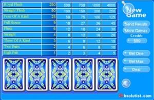 Blue poker