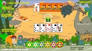 Dinosaur poker game