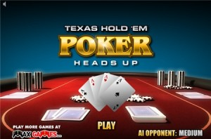 Strategie sur Texas Holdem Poker Heads up