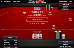 Strategie sur Texas Holdem Poker Heads up.